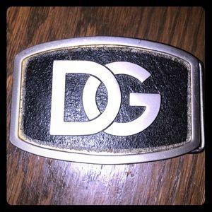 Badass Dolce & Gabana Black & silver belt buckle.